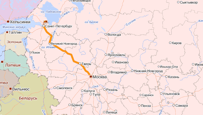 Скоростная автомобильная дорога М11 Москва  Санкт