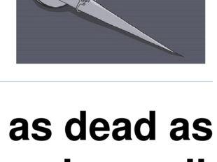 as dead as a doornail