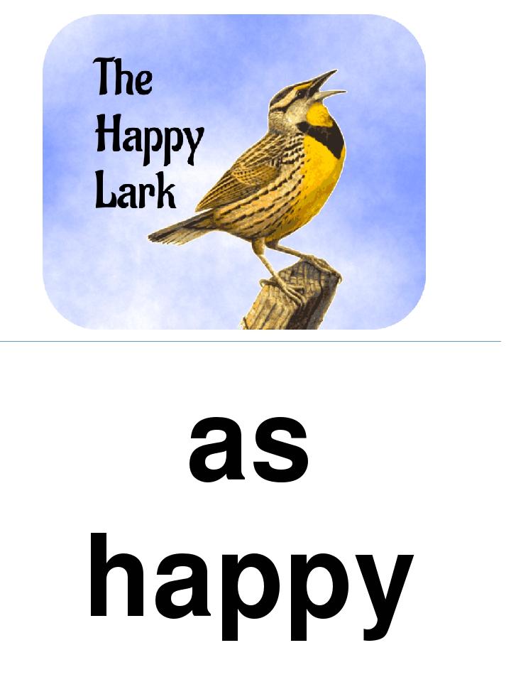 as happy as a lark