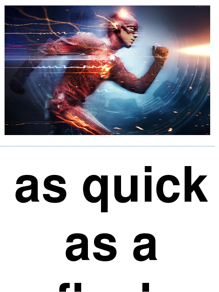 as quick as a flash
