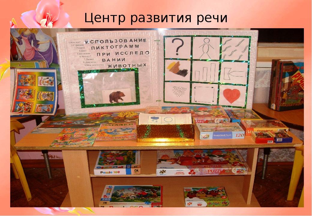 Центр развития речи картинка