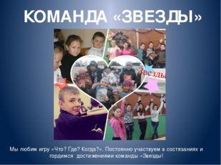 КОМАНДА «ЗВЕЗДЫ» Презентацию команды «Звезды» подготовили: Руководитель: Карл