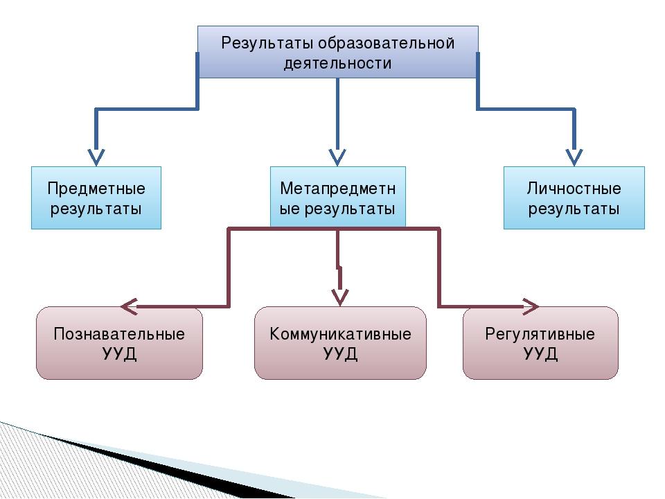 Результаты образовательной деятельности Предметные результаты Метапредметные...