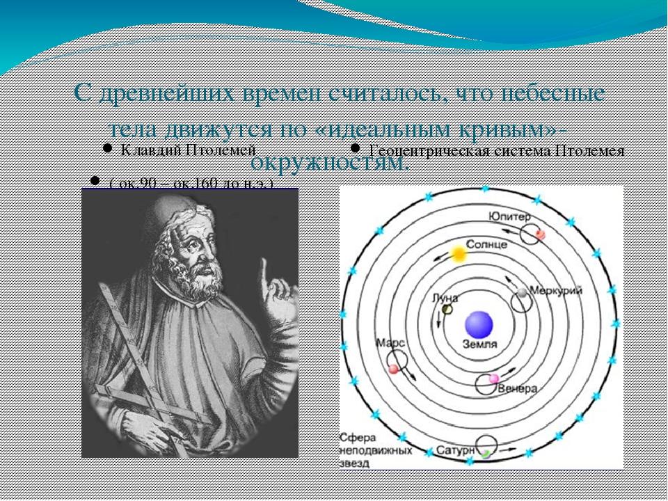 С древнейших времен считалось, что небесные тела движутся по «идеальным крив...