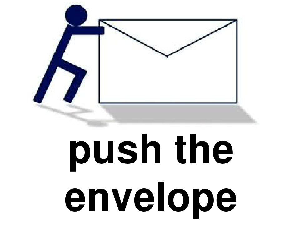 pushing the envelope Pushing the envelope you'll never think about envelopes the same way again stamped with innovation and creative impulse, the products of jbm envelope company have added intriguing new dimensions to the most basic of business tools.