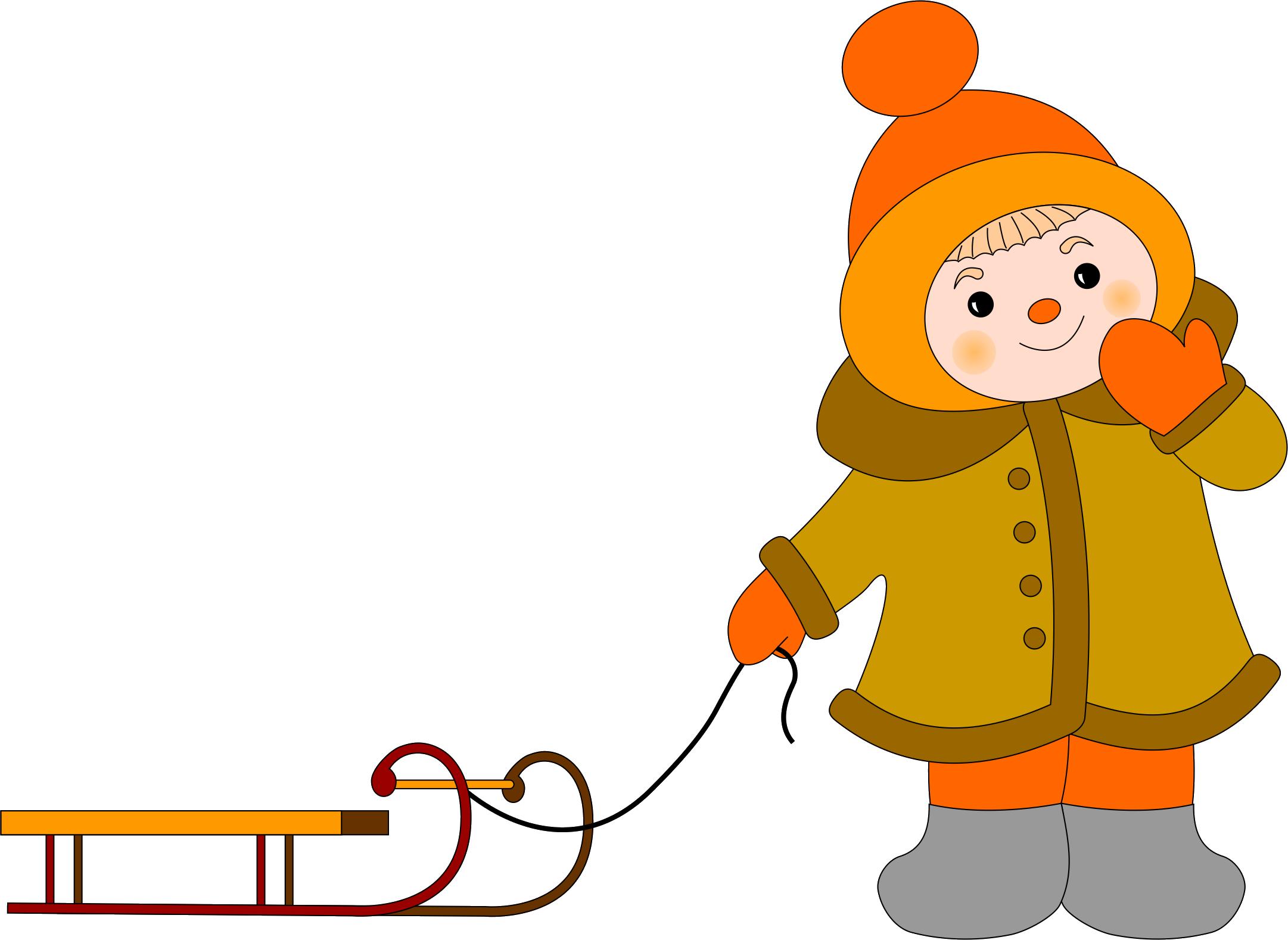 Дети зимой картинки нарисованные
