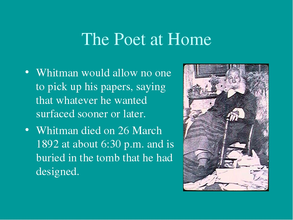 a biography of the poet walt whitman