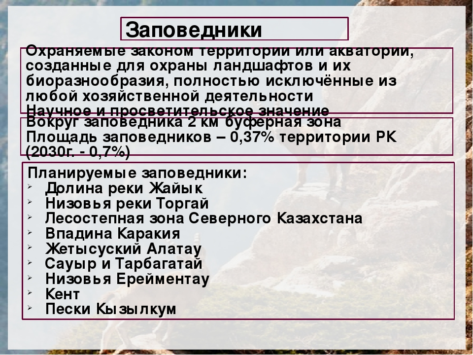 Особо охраняемые территории казахстана реферат 4033