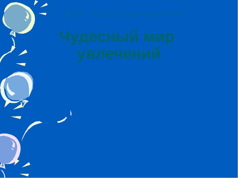 Чудесный мир увлечений МОУ «Школа-гимназия №6»