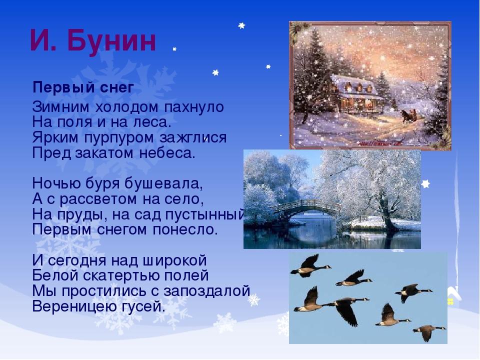собраны стихи первый снег 3 класс отличить