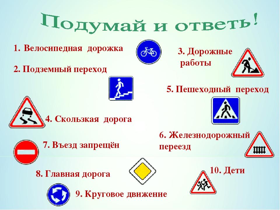 картинки дорожные знаки по пдд для начальной школы создателя
