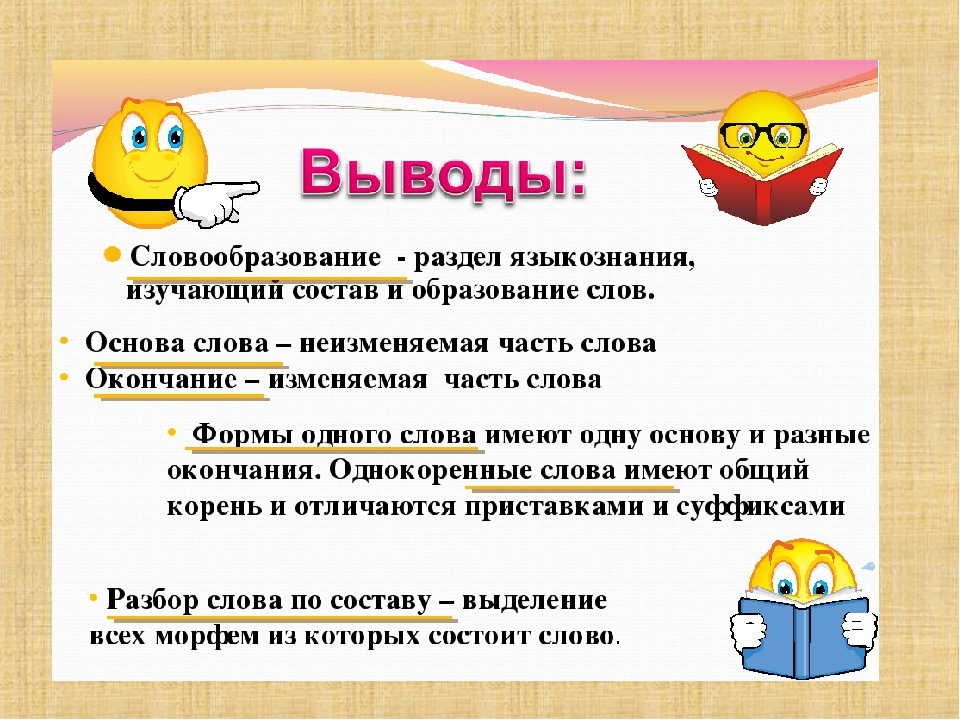 Картинки на тему словообразование