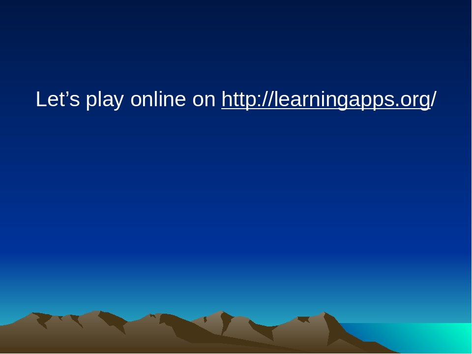 Let's play online on http://learningapps.org/