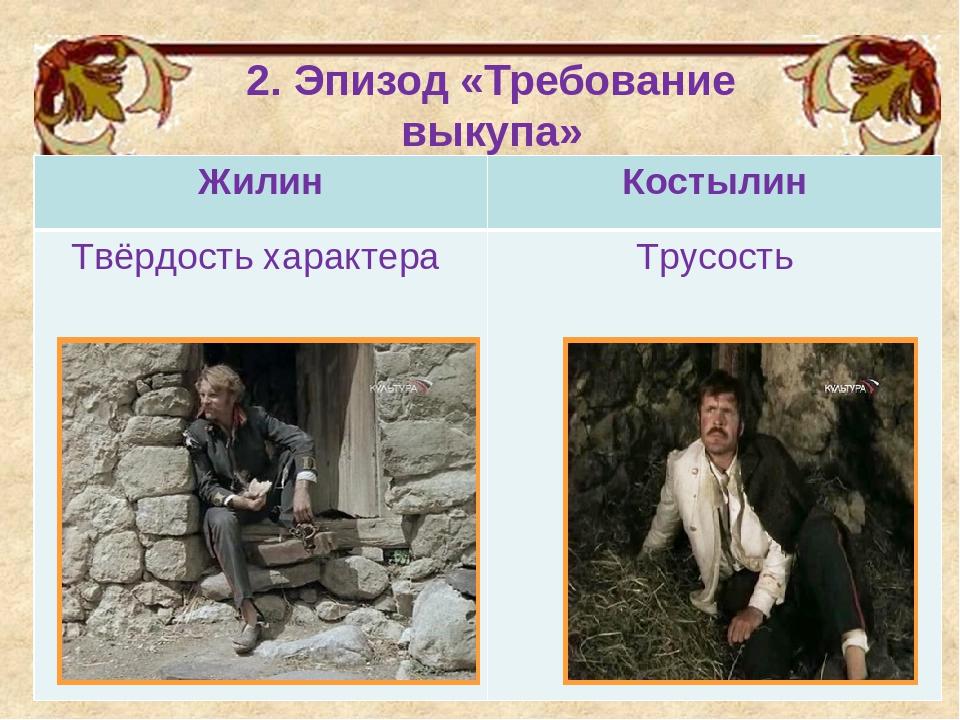 2. Эпизод «Требование выкупа» ЖилинКостылин Твёрдость характера Трусость