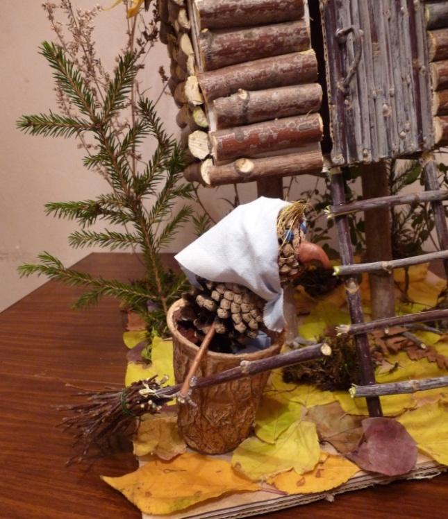 Домик бабы яги своими руками из природных материалов