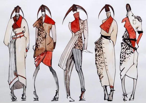 этнические костюмы рисунки стилю