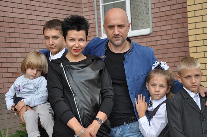 Захар прилепин семья фото