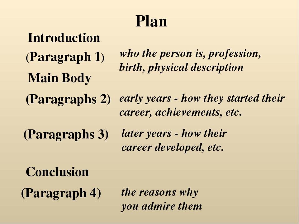 Introduction Plan (Paragraph 1) Main Body (Paragraphs 2) (Paragraphs 3) Concl...