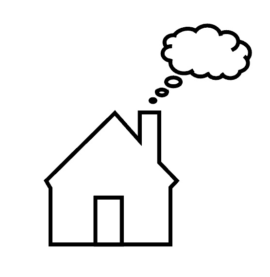 Дом дым картинка для детей
