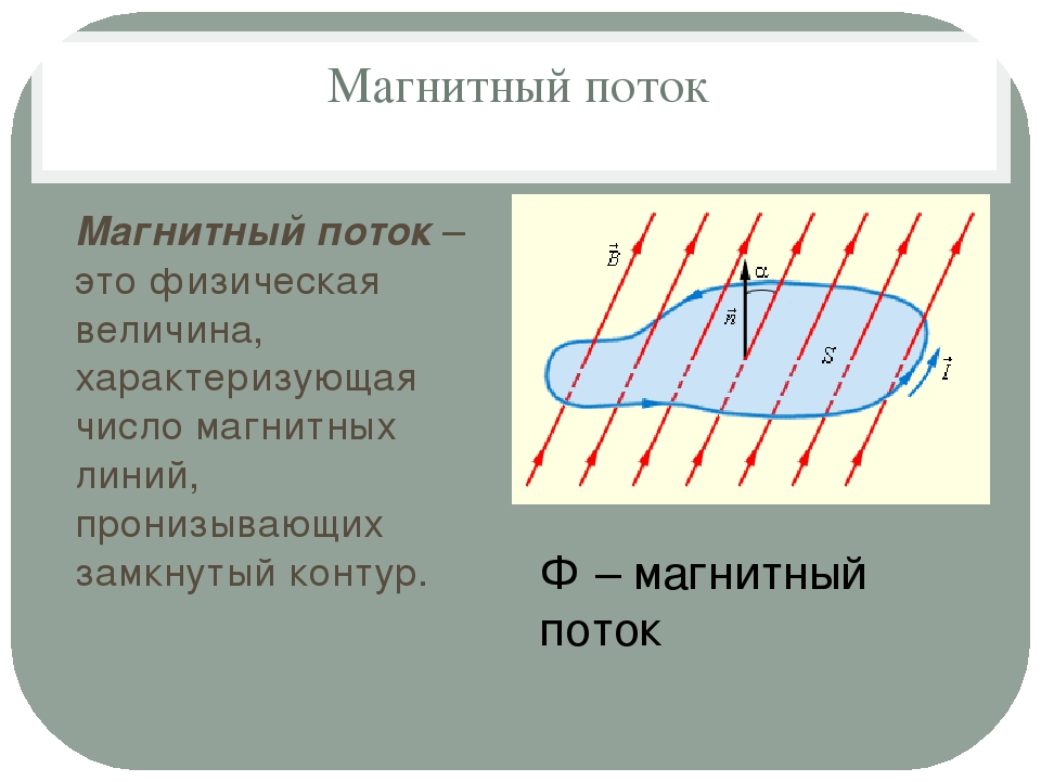 Магнитный поток Магнитный поток – это физическая величина, характеризующая чи...