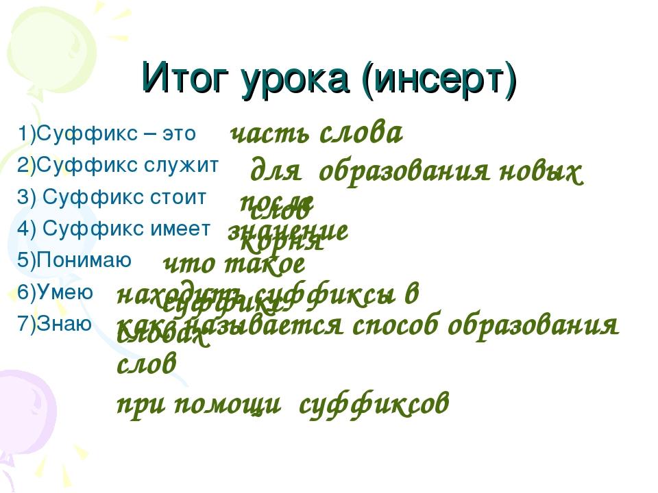 Урок русского языка во 2 классе образование слов с помощью суфффиксов школа 21 века