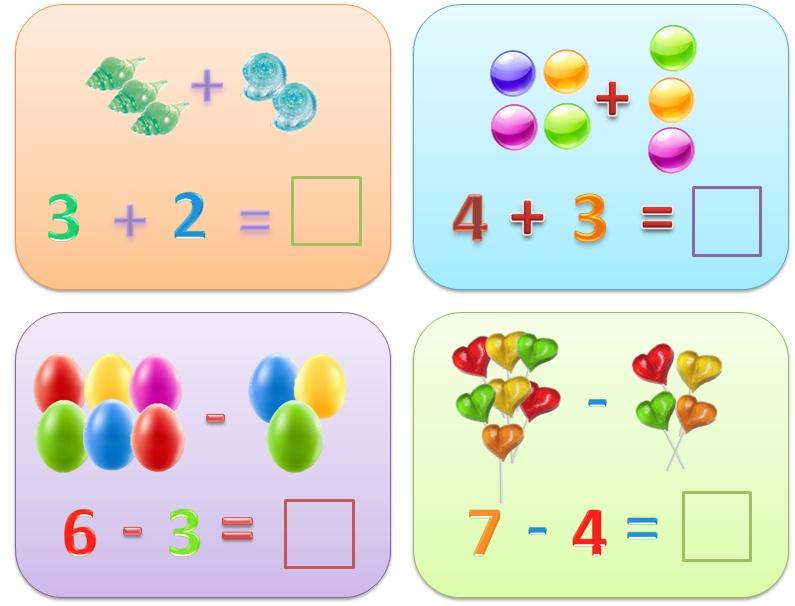 Картинки с арифметическими задачами