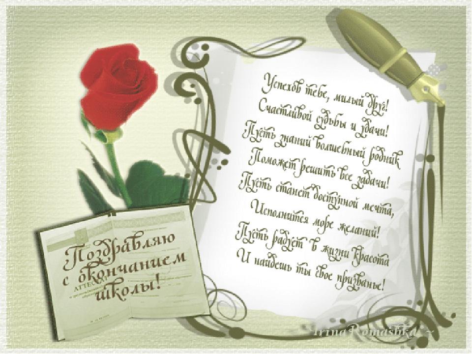 Картинки с окончанием школы для родителей, стихами прощай