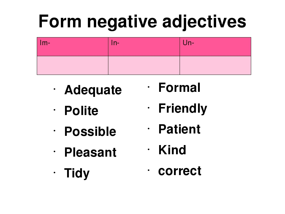 negative prefixes Non-the prefix non- is the most useful negative prefix, as it can be attached to virtually any noun, verb, adjective, or adverb and is not confusable with other common morphemes.