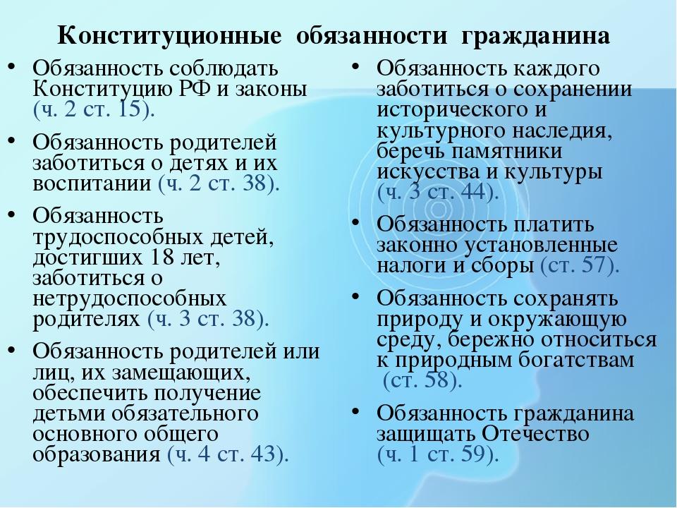 Доклад на тему обязанности граждан 6866