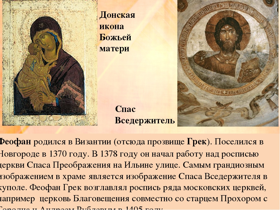 Феофан родился в Византии (отсюда прозвище Грек). Поселился в Новгороде в 137...