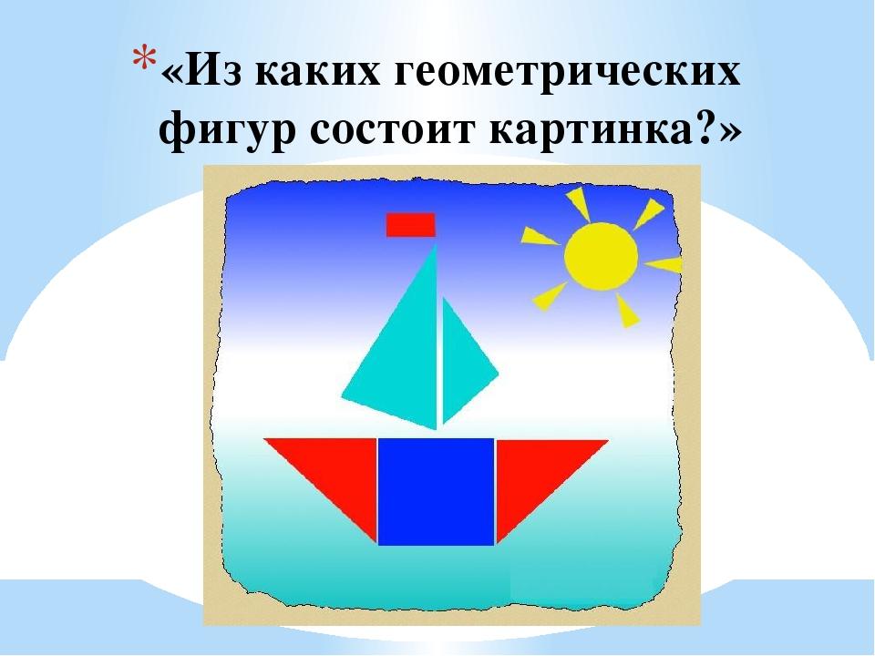 рассмотрите рисунок парохода из каких простых геометрических фигур он состоит учитывать