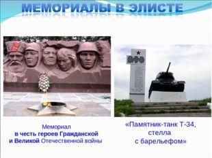 Памятники вов презентации Элиста лучшие памятники из гранита с Домодедово
