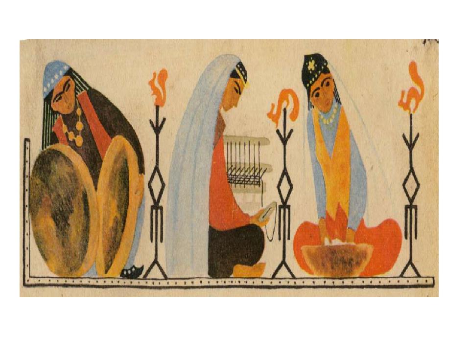 иллюстрации к татарской сказке три сестры подсветка
