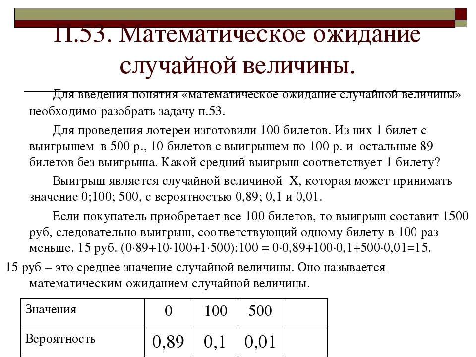Реферат на тему числовые характеристики случайных величин 6441