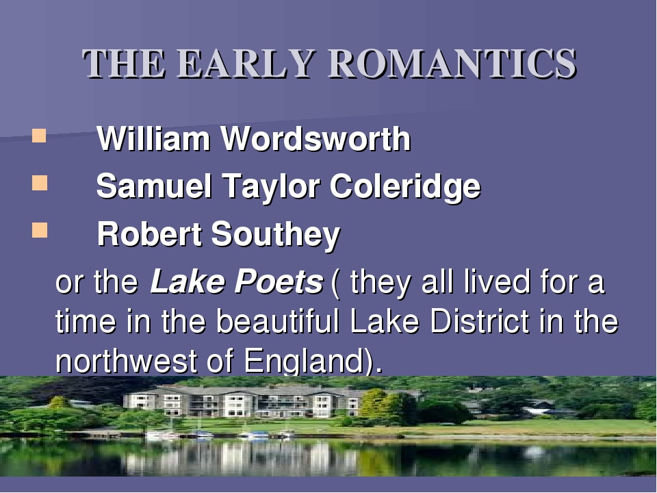 william wordsworth and samuel coleridge poets of the romantic period