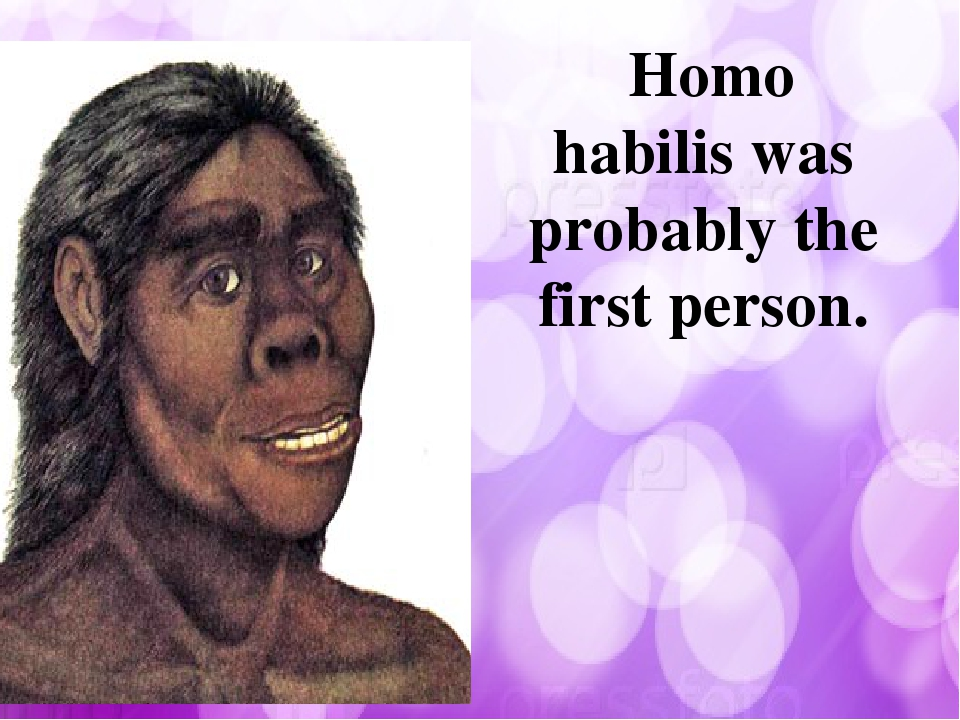 Homo habilis was probably the first person.