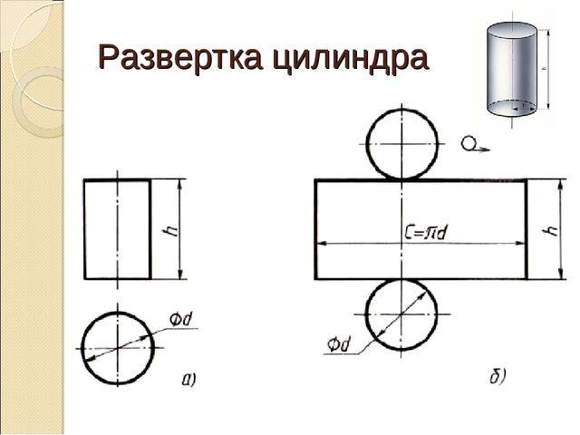 Как сделать развёрток цилиндра 844