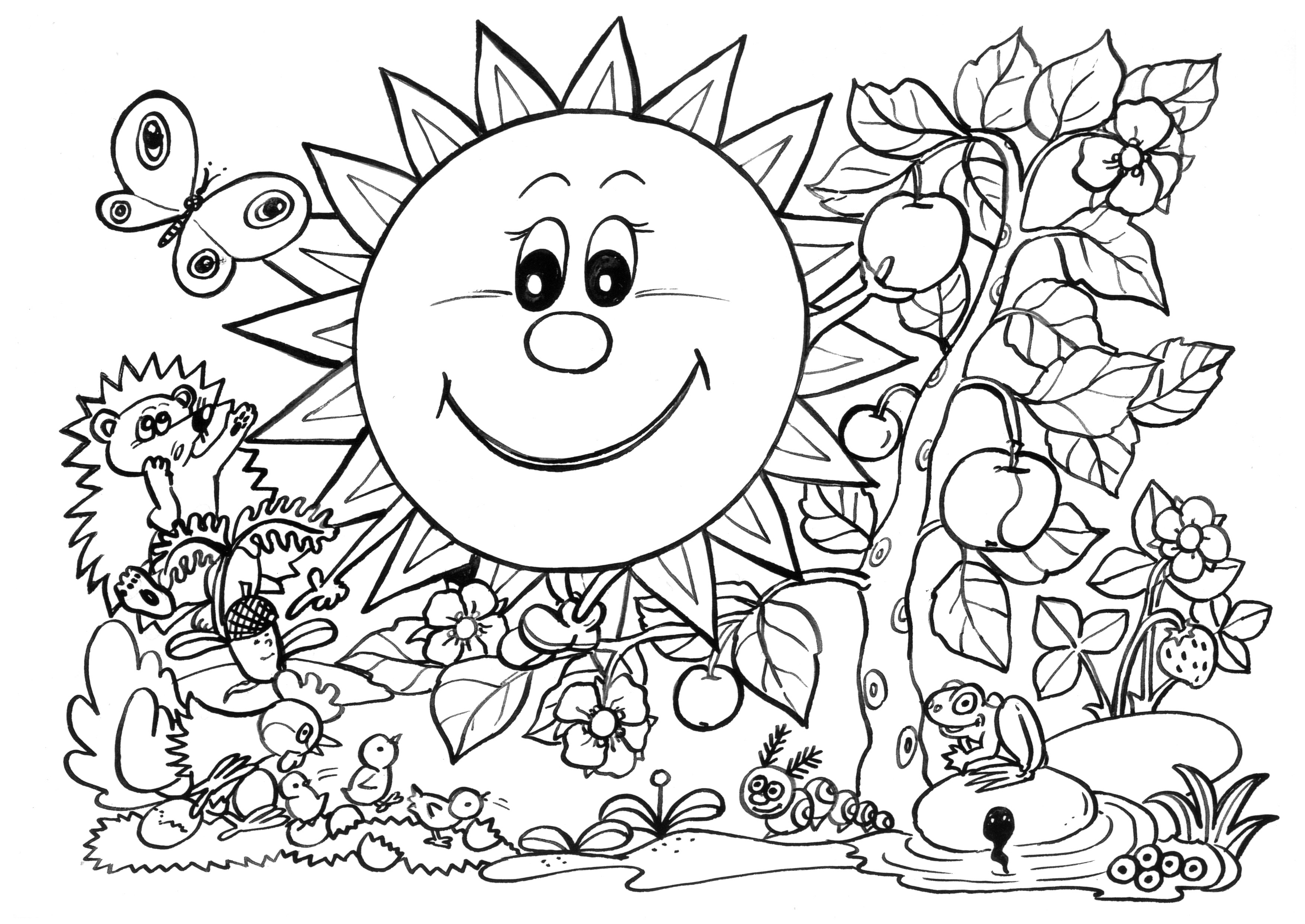 coloring pages free printable full size pictures to color - HD3508×2484
