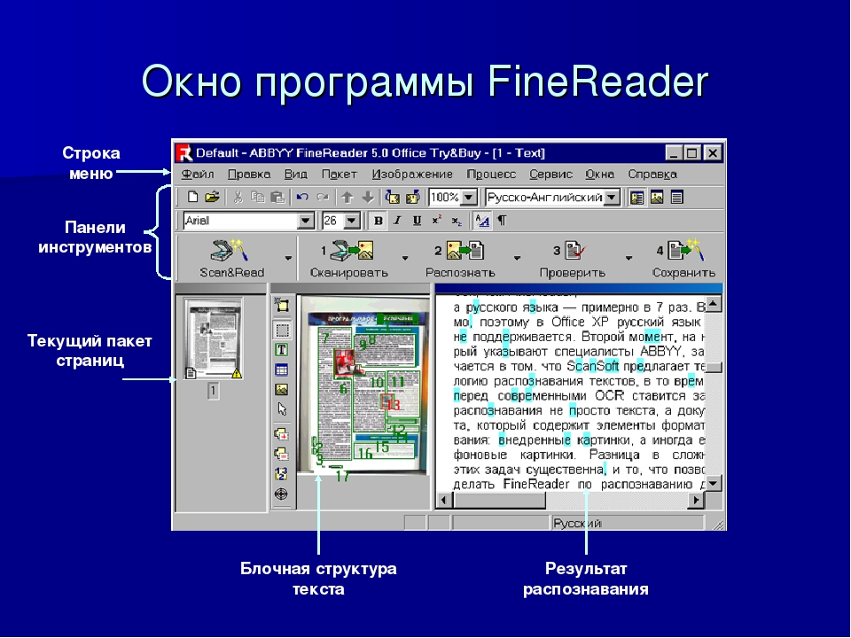 Распознавание текстов с картинок