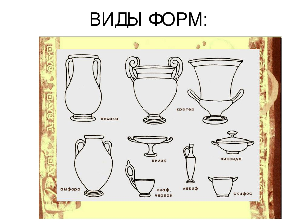изысканный декор сосудов древней греции рисунки нужно