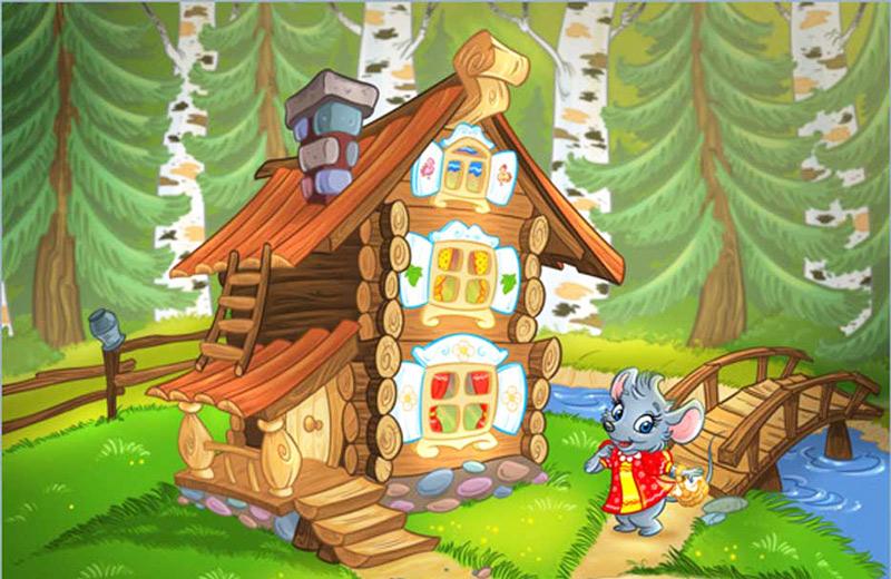 Теремок домик сказочный картинка