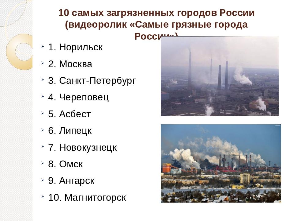 Список самых грязных городов россии