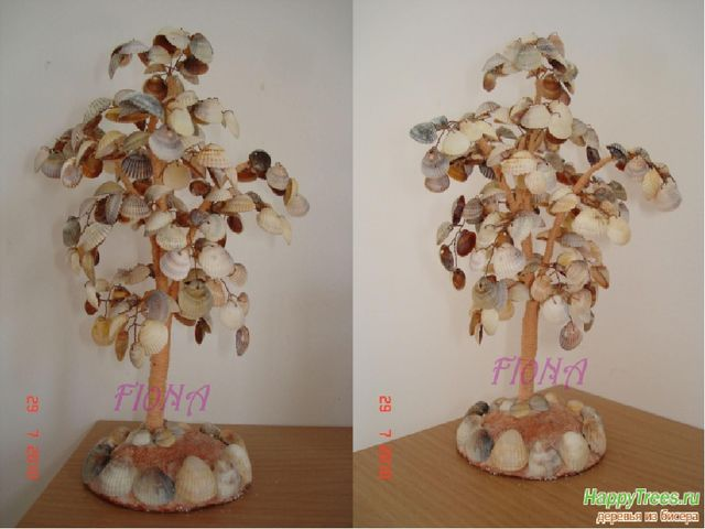 Дерево из ракушек своими руками