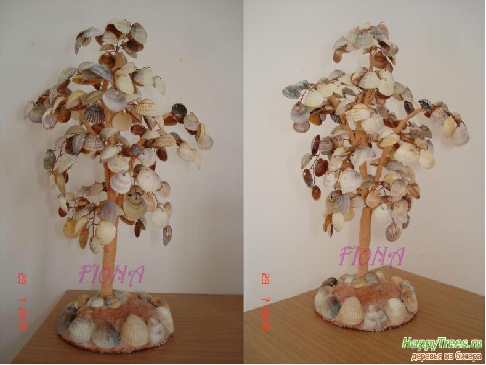 Дерево из ракушек своими руками с инструкцией