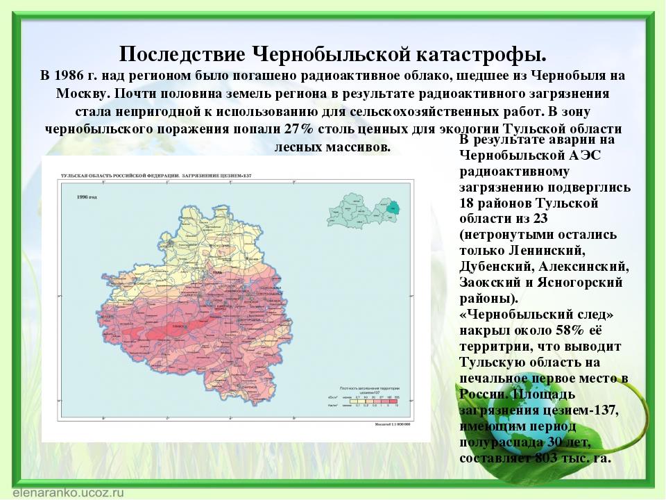 Доклад экология тульской области 8682