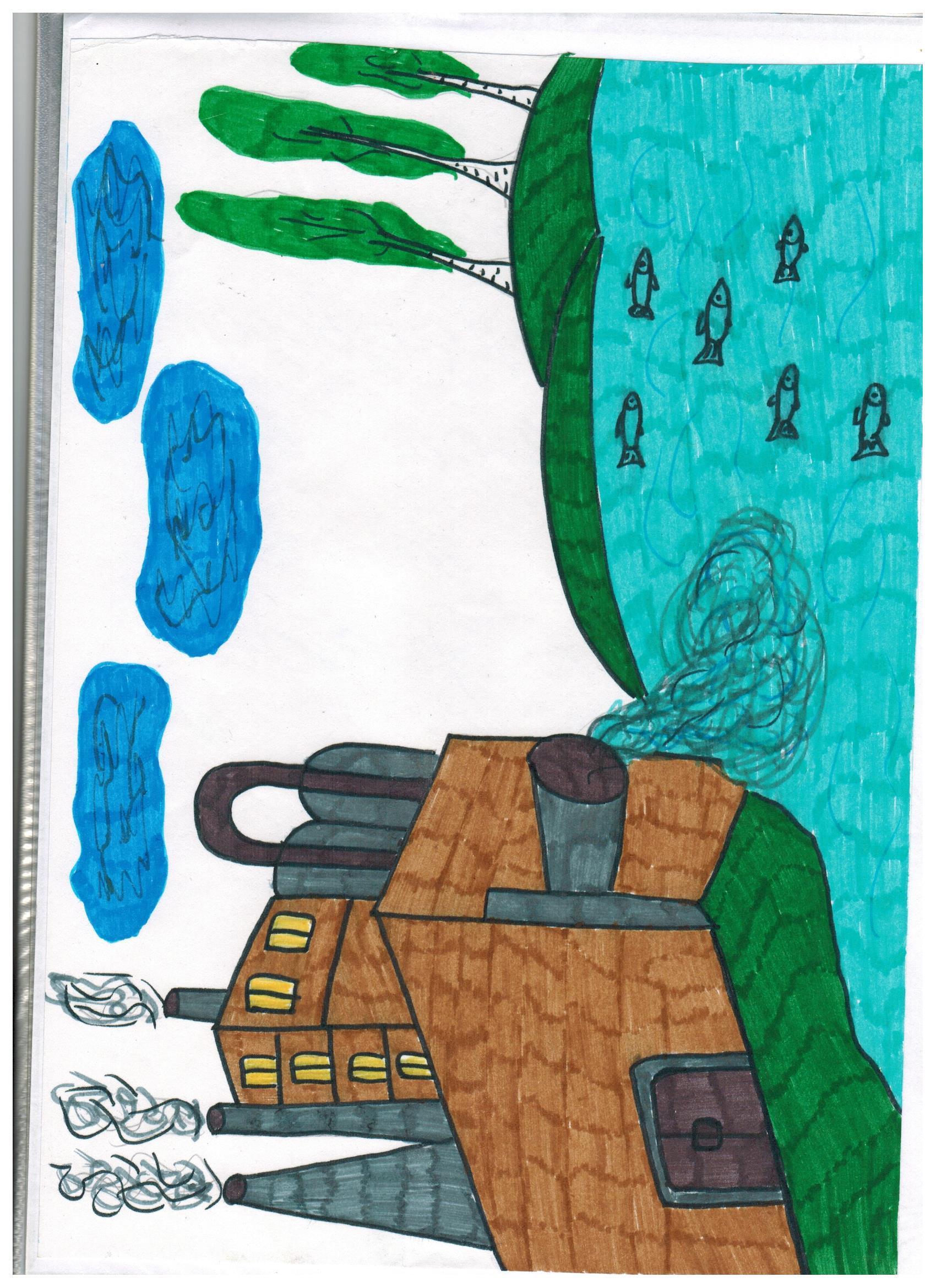 Картинки для детей загрязнение водоемов