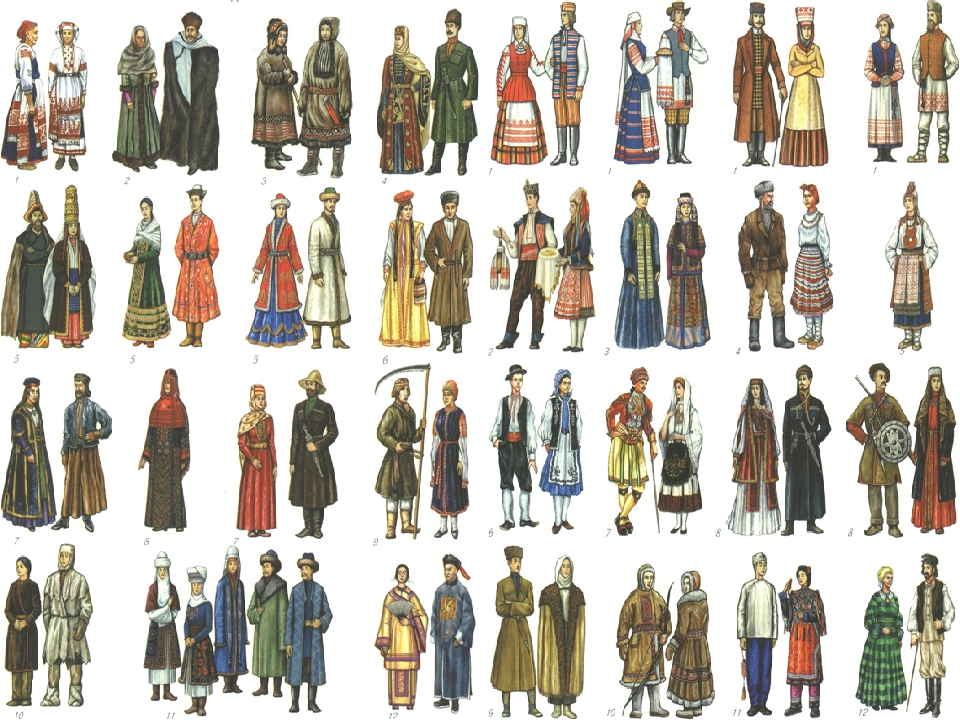 страницах народности россии в картинках для первого класса была такой