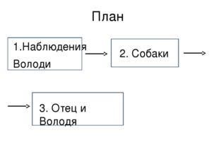 План 1.Наблюдения Володи 2. Собаки 3. Отец и Володя
