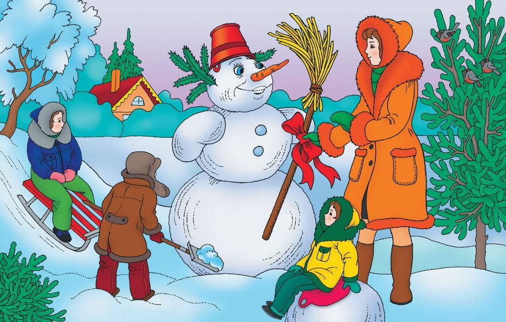 Обучение рассказыванию по картинке вот это снеговик средняя группа прокурор обратился