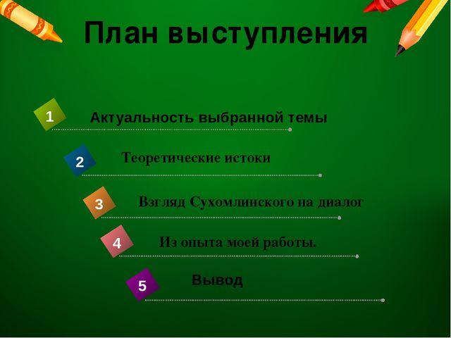 План выступления Теоретические истоки Взгляд Сухомлинского на диалог Из опыта...